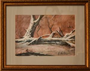 Aurel Patrascu- Peisaj cu copac