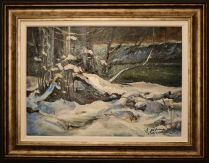 Aurel Patrascu- Peisaj de iarna
