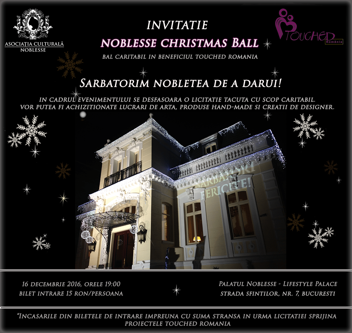 Invitatie Noblesse Christmas Ball